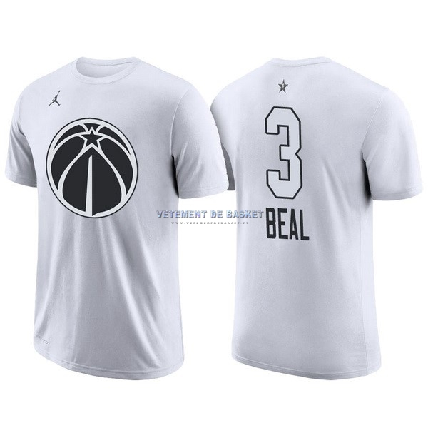 Maillot NBA 2018 All Star Manche Courte NO.3 Bradley Beal Blanc