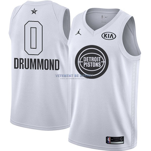 Maillot NBA 2018 All Star NO.0 Andre Drummond Blanc