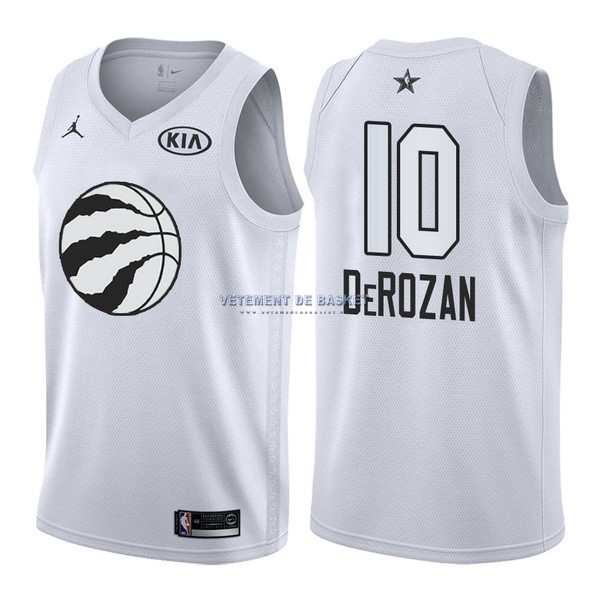 Maillot NBA 2018 All Star NO.10 DeMar DeRozan Blanc