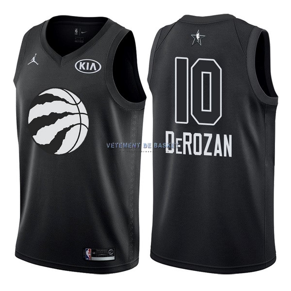 Maillot NBA 2018 All Star NO.10 DeMar DeRozan Noir