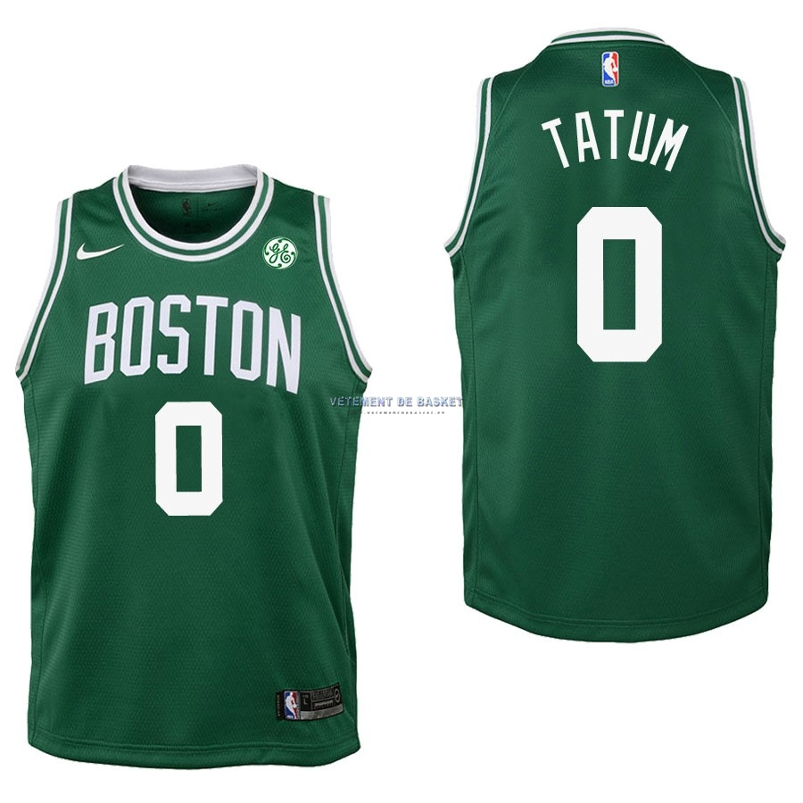 Maillot NBA Enfant Boston Celtics NO.0 Jayson Tatum Vert 2017-18
