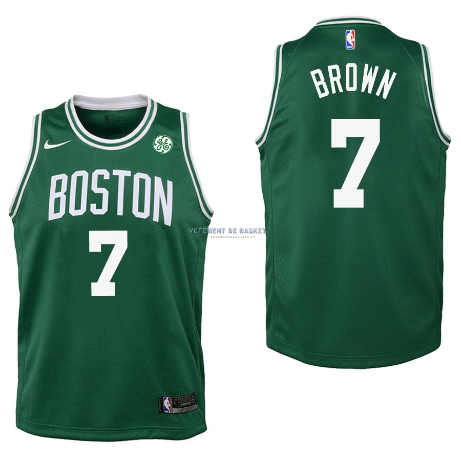 Maillot NBA Enfant Boston Celtics NO.7 Jaylen Brown Vert 2017-18