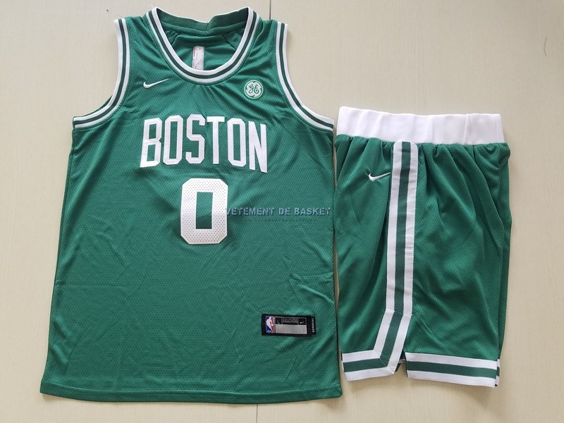 Maillot NBA Ensemble Complet Enfant Boston Celtics NO.0 Jayson Tatum Vert 2017-18