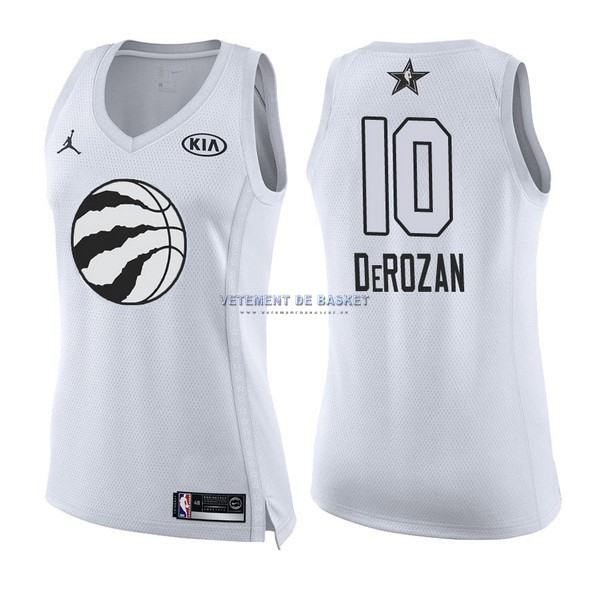 Maillot NBA Femme 2018 All Star NO.10 DeMar DeRozan Blanc