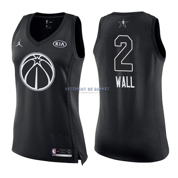 Maillot NBA Femme 2018 All Star NO.2 John Wall Noir