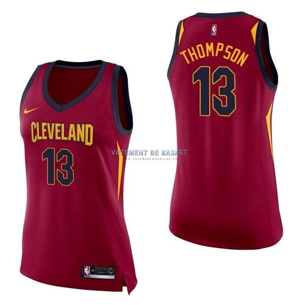 Maillot NBA Femme Cleveland Cavaliers NO.13 Tristan Thompson Rouge Icon