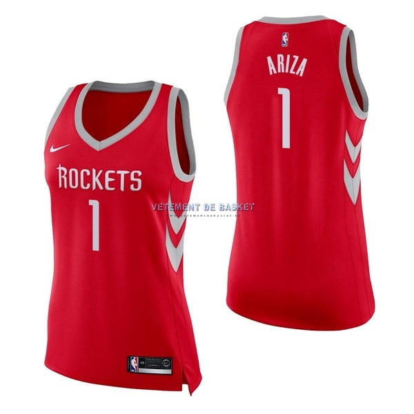 Maillot NBA Femme Houston Rockets NO.1 Trevor Ariza Rouge Icon