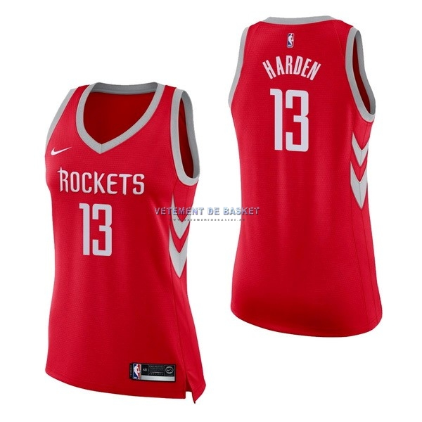Maillot NBA Femme Houston Rockets NO.13 James Harden Rouge Icon