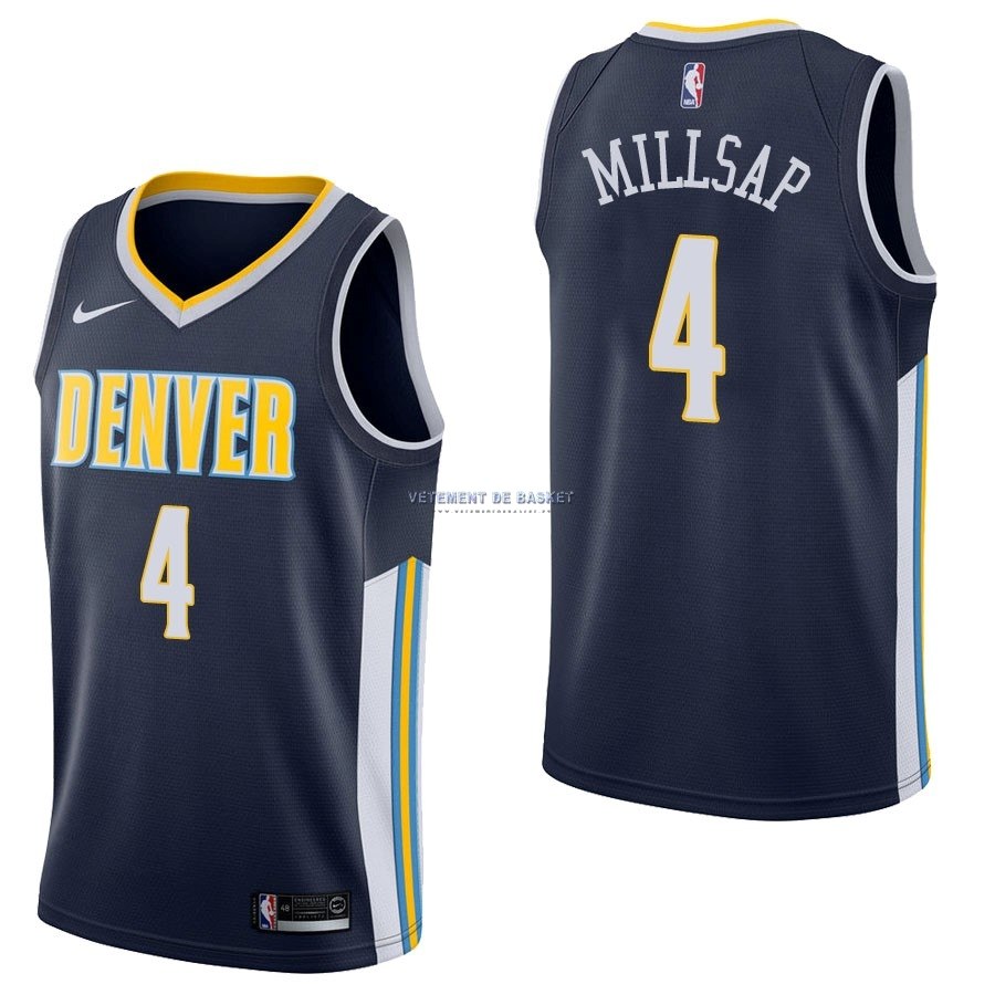 Maillot NBA Nike Denver Nuggets NO.4 Paul Millsap Marine Icon