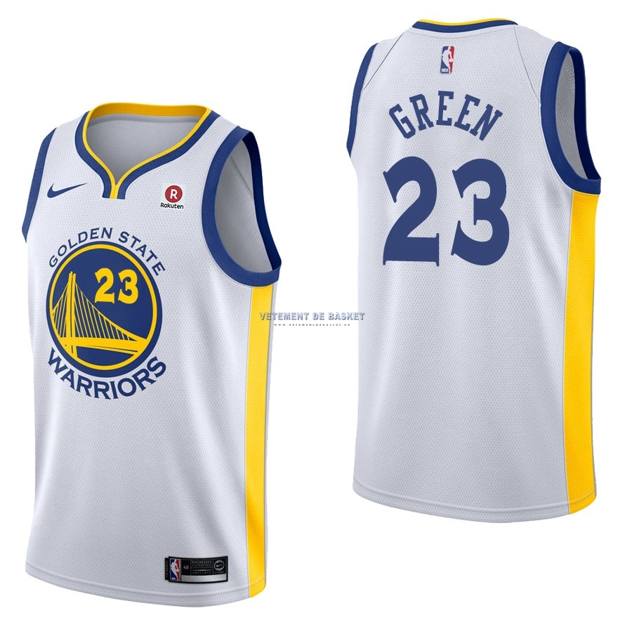 Maillot NBA Nike Golden State Warriors NO.23 Draymond Green Blanc