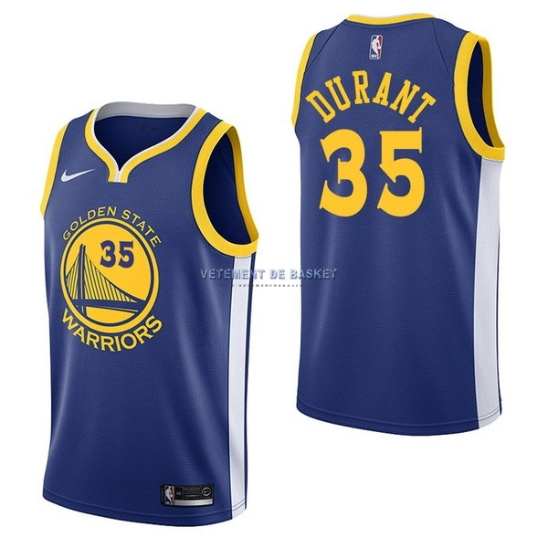 Maillot NBA Nike Golden State Warriors NO.35 Kevin Durant Bleu Icon