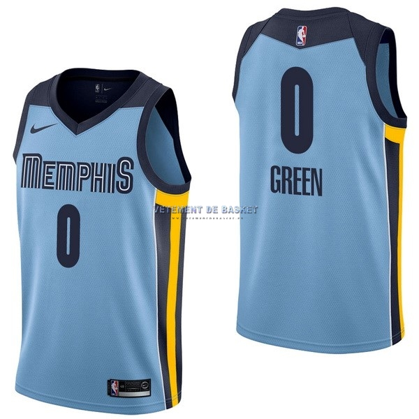 Maillot NBA Nike Memphis Grizzlies NO.0 JaMychal Green Bleu Statement