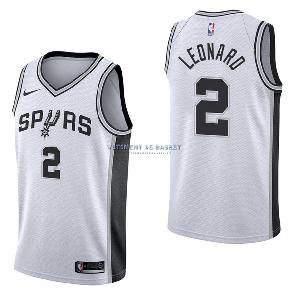 Maillot NBA Nike San Antonio Spurs NO.2 Kawhi Leonard Blanc Association