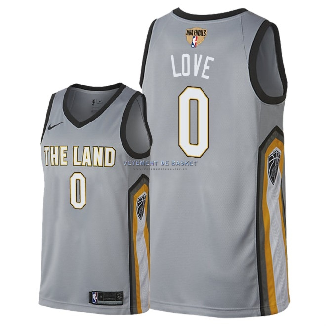 Maillot NBA Cleveland Cavaliers 2018 Final Champions NO.0 Kevin Love Nike Gris Ville Patch