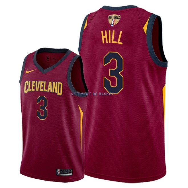 Maillot NBA Cleveland Cavaliers 2018 Final Champions NO.3 George Hill Rouge Icon Patch