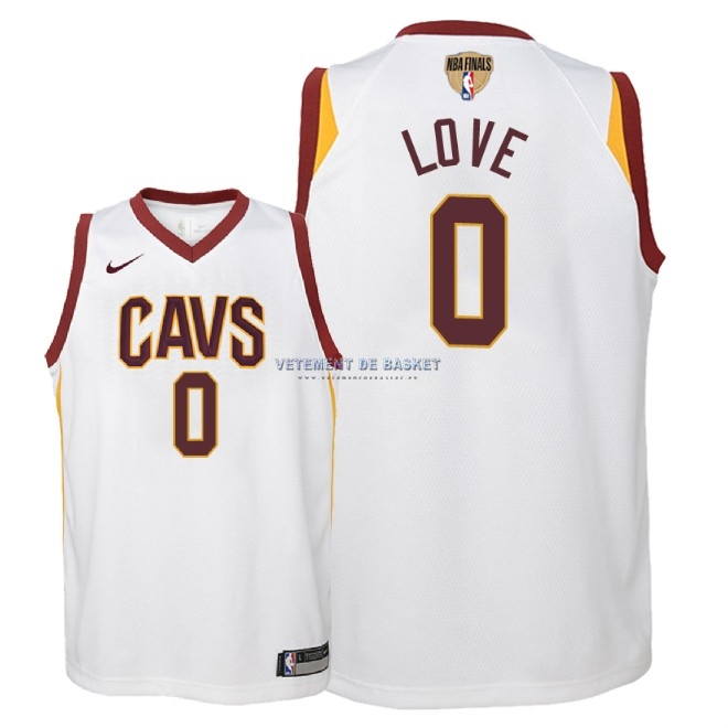 Maillot NBA Enfant Cleveland Cavaliers 2018 Final Champions NO.0 Kevin Love Blanc Association Patch