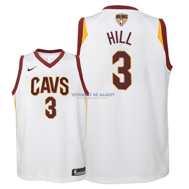Maillot NBA Enfant Cleveland Cavaliers 2018 Final Champions NO.3 George Hill Blanc Association Patch