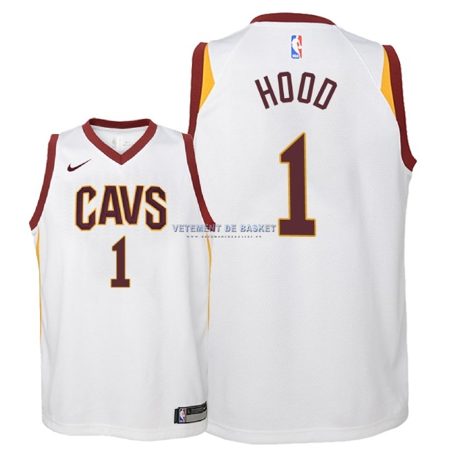 Maillot NBA Enfant Cleveland Cavaliers NO.1 Rodney Hood Blanc Association 2018