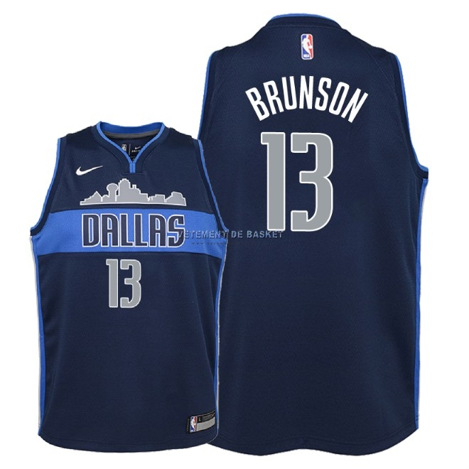 Maillot NBA Enfant Dallas Mavericks NO.13 Jalen Brunson Noir Statement 2018