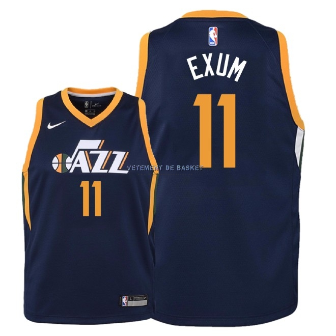Maillot NBA Enfant Utah Jazz NO.11 Dante Exum Marine Icon 2018