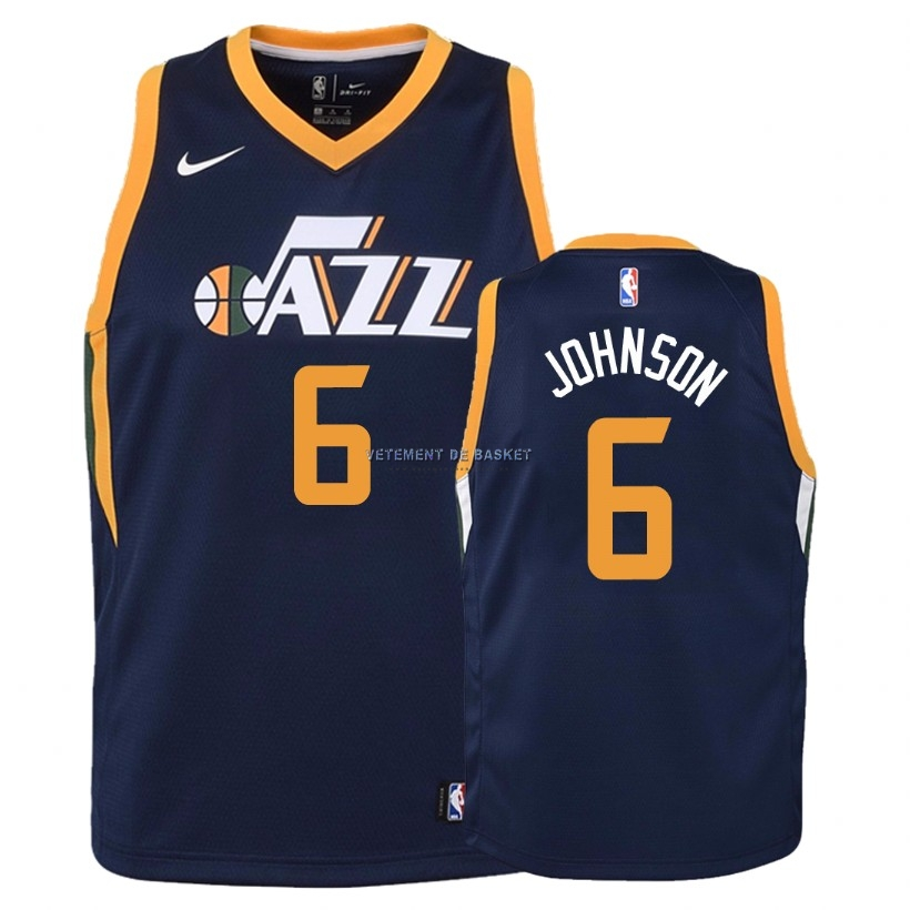Maillot NBA Enfant Utah Jazz NO.6 Joe Johnson Marine Icon 2018