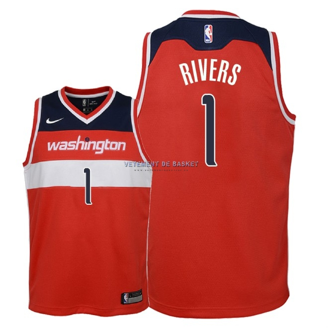 Maillot NBA Enfant Washington Wizards NO.1 Austin Rivers Rouge Icon 2018