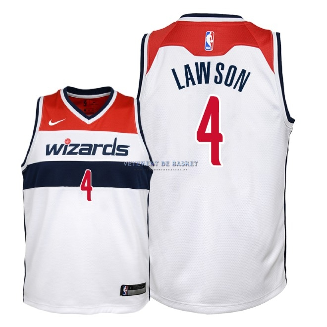 Maillot NBA Enfant Washington Wizards NO.4 Ty Lawson Blanc Association 2018