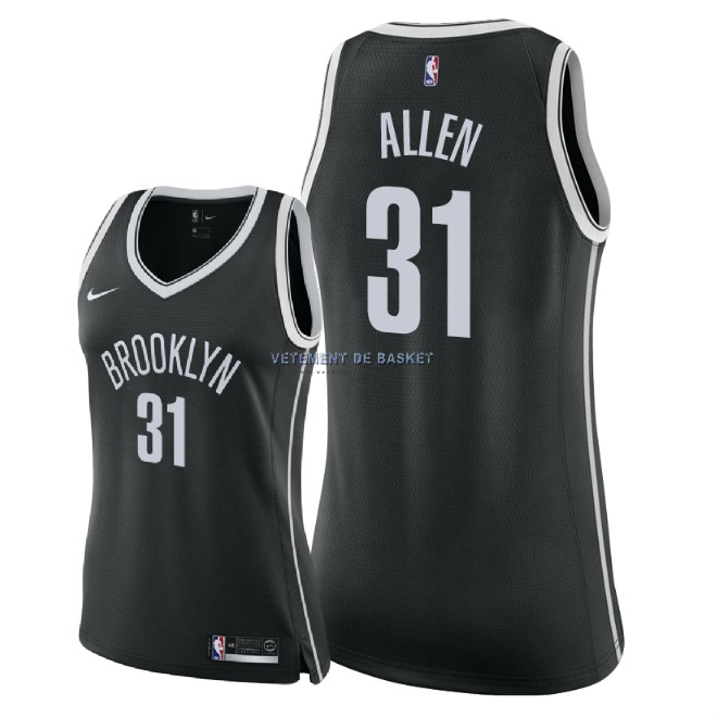Maillot NBA Femme Brooklyn Nets NO.31 Jarrett Allen Noir Icon 2018