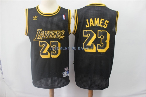 Maillot NBA Los Angeles Lakers NO.23 Lebron James Retro Noir