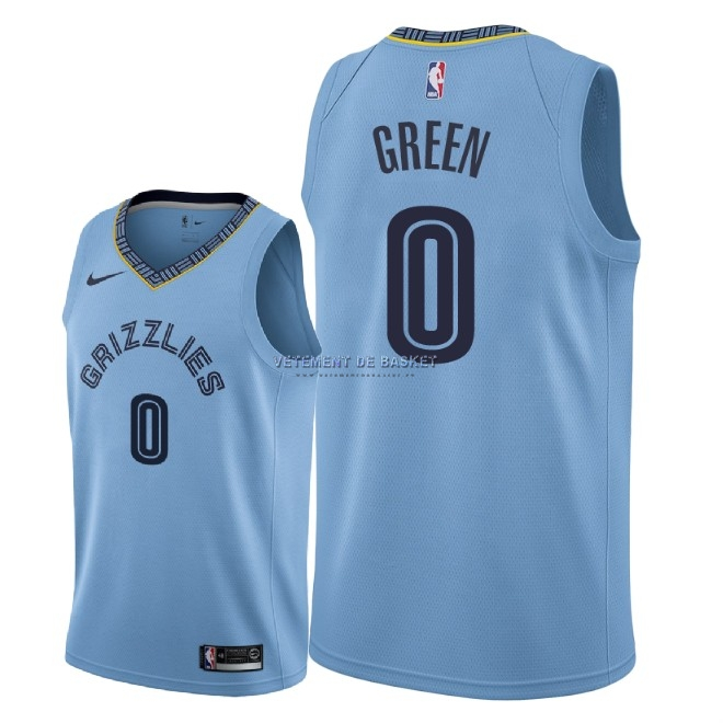 Maillot NBA Nike Memphis Grizzlies NO.0 JaMychal Green Bleu Statement 2018-19