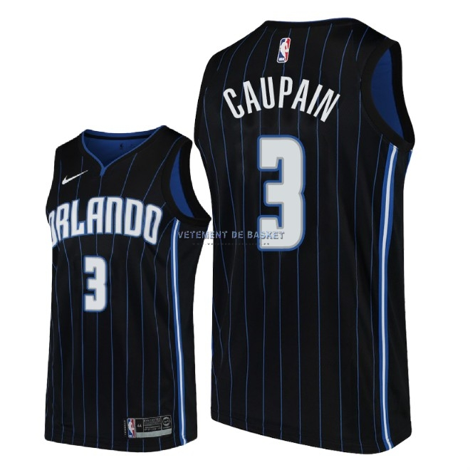 Maillot NBA Nike Orlando Magic NO.3 Troy Caupain Noir Statement 2018