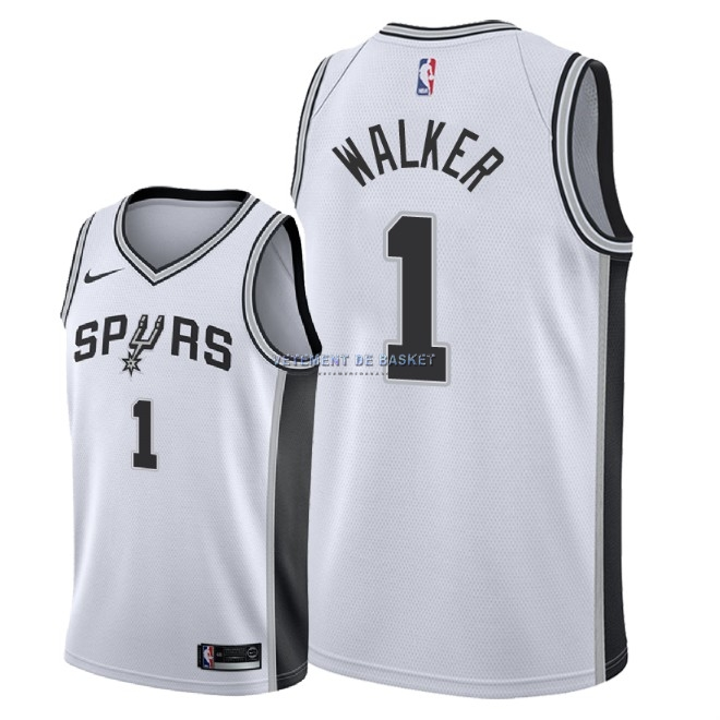 Maillot NBA Nike San Antonio Spurs NO.1 Lonnie Walker Blanc Association 2018