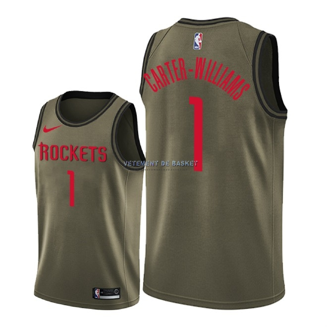 Maillot NBA Service De Salut Houston Rockets NO.1 Michael Carter Williams Nike Camo Militaire 2018