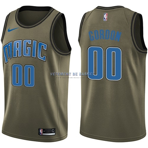 Maillot NBA Service De Salut Orlando Magic NO.0 Aaron Gordon Nike Armée verte 2018