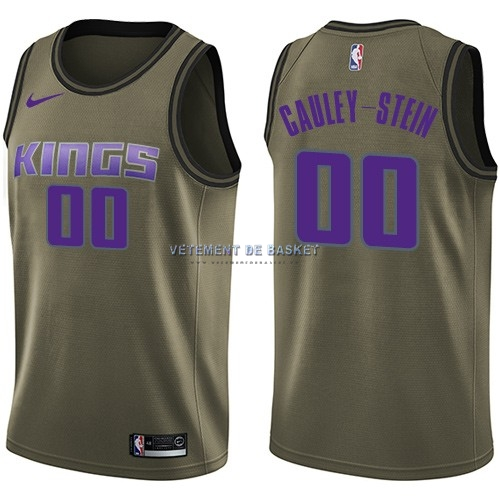 Maillot NBA Service De Salut Sacramento Kings NO.0 Willie Cauley Stein Nike Armée verte 2018
