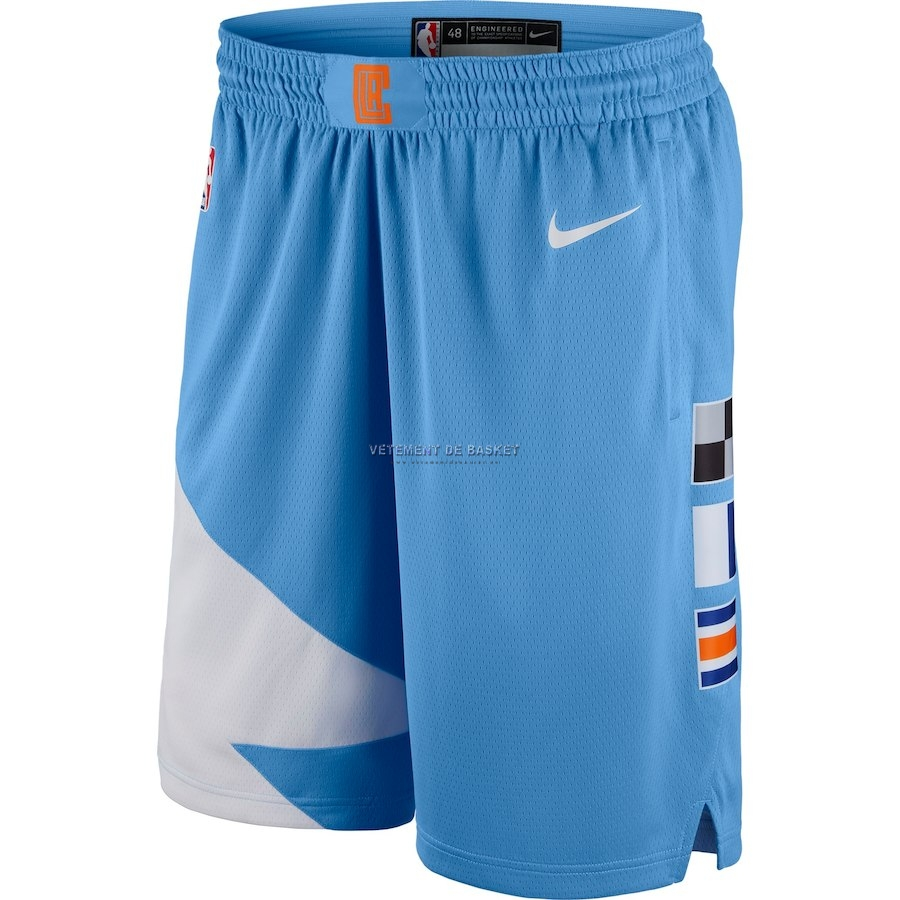 Short Basket Los Angeles Clippers Nike Bleu Ville 2018