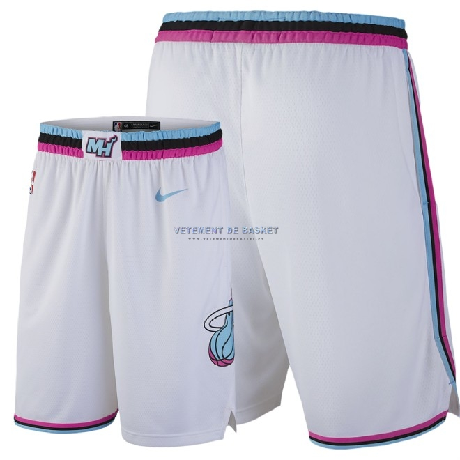Short Basket Miami Heat Nike Blanc Ville 2018