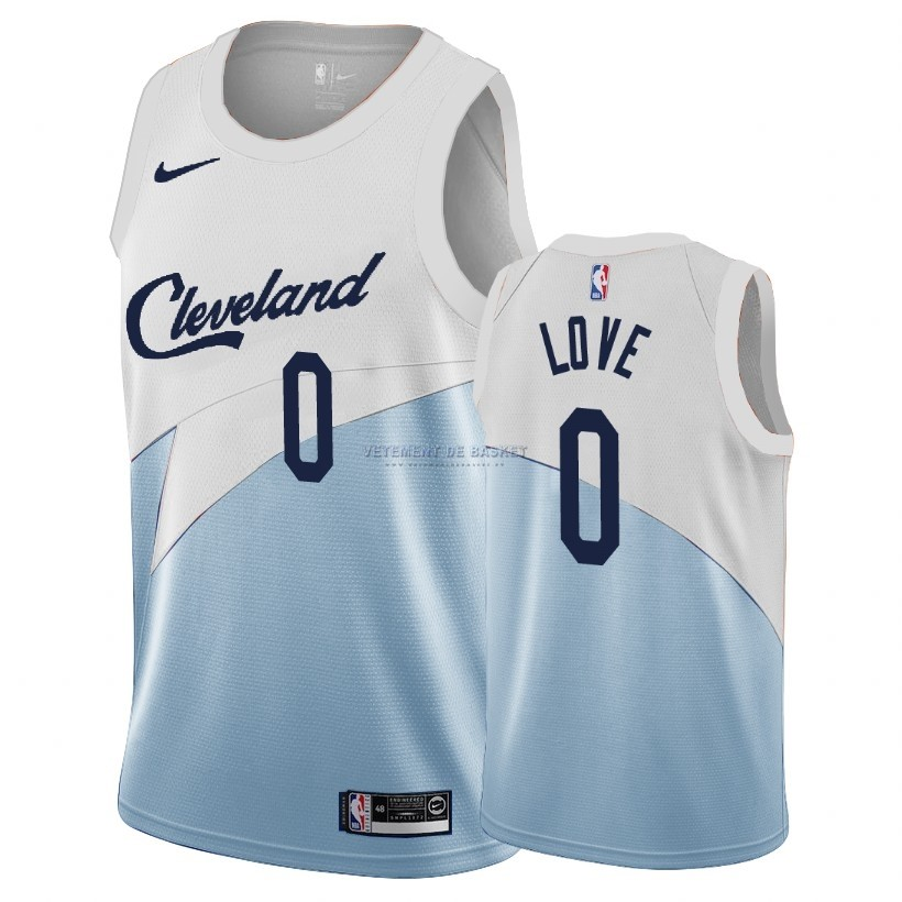 Maillot Earned Edition Cleveland Cavaliers NO.0 Kevin Love Bleu 2018-19
