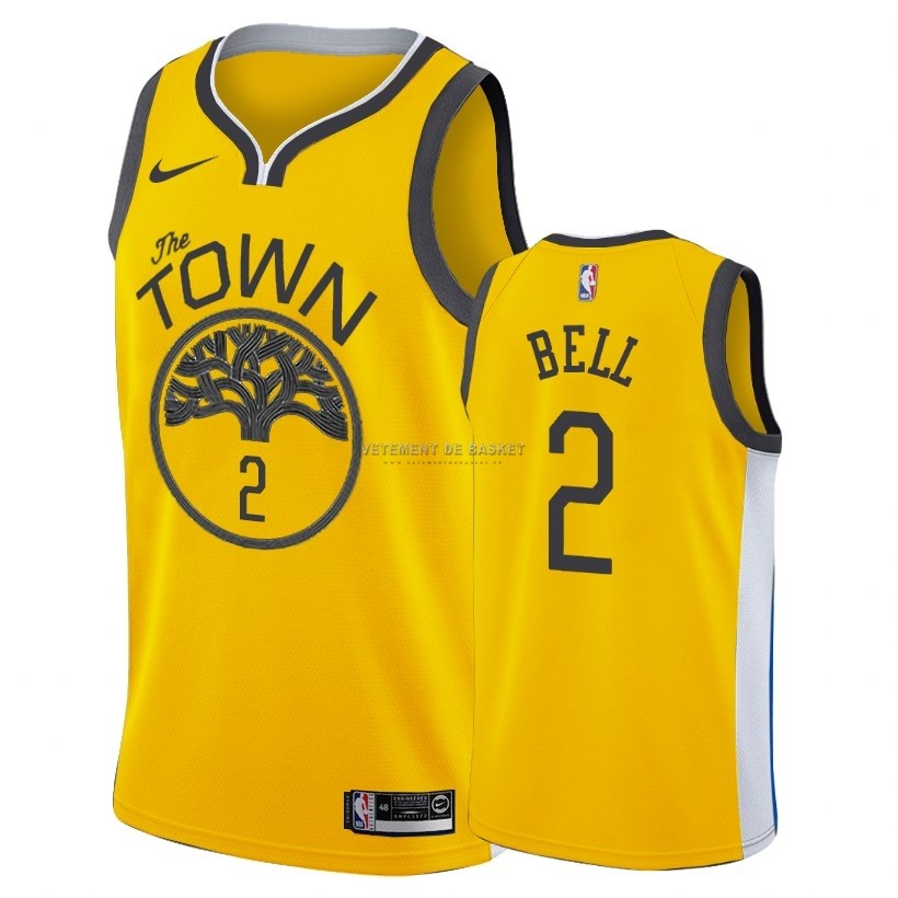 Maillot Earned Edition Golden State Warriors NO.2 Jordan Bell Nike Oro 2018-19