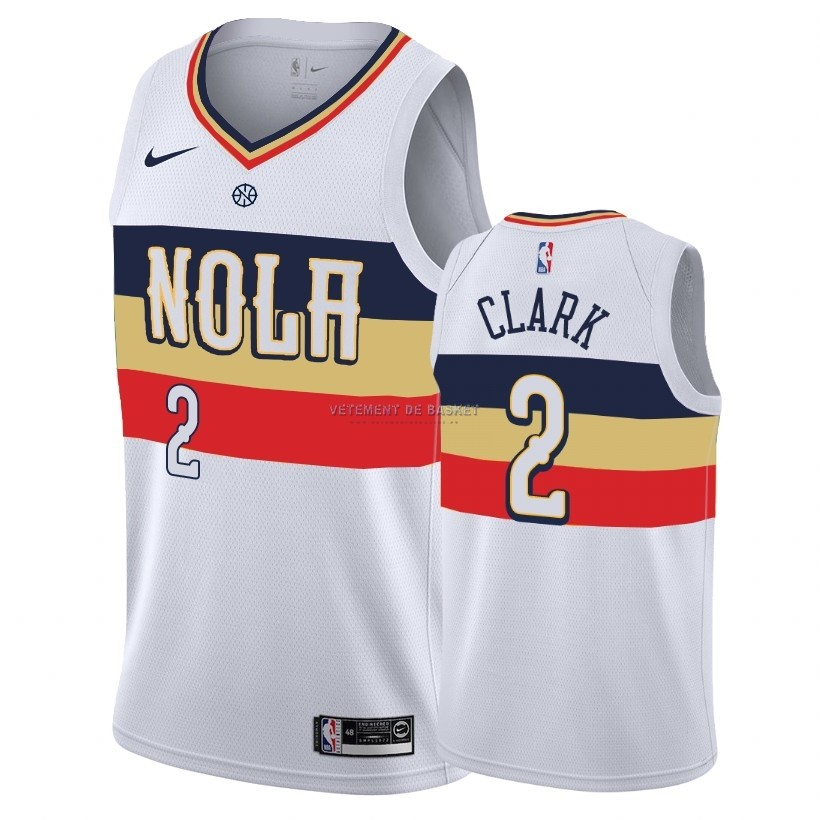Maillot Earned Edition New Orleans Pelicans NO.2 Ian Clark Blanc 2018-19