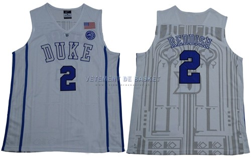 Maillot NCAA Duke NO.2 Cameron Reddish Blanc