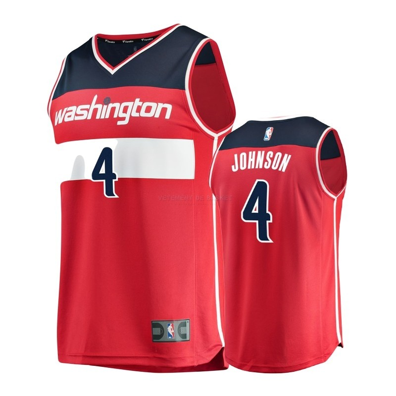 Maillot NBA Enfant Washington Wizards NO.4 Wesley Johnson Rouge Icon