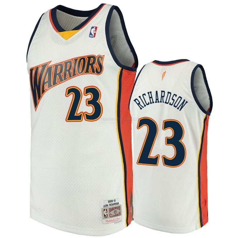 Maillot NBA Golden State Warriors NO.23 Jason Richardson Blanc Hardwood Classics