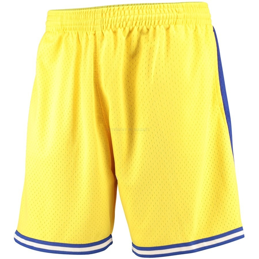 Pantalon Basket Golden State Warriors Jaune Hardwood Classics