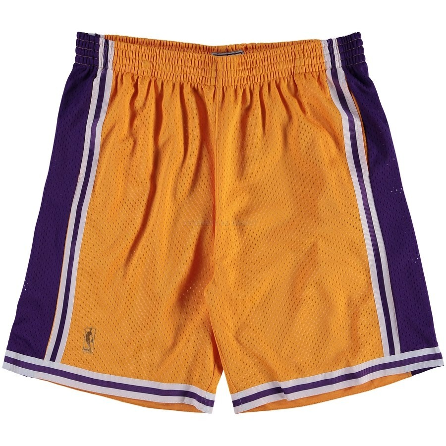 Pantalon Basket Los Angeles Lakers Jaune Hardwood Classics