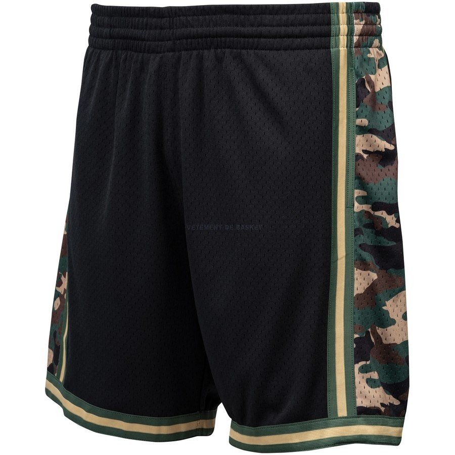 Pantalon Basket Los Angeles Lakers Noir Hardwood Classics