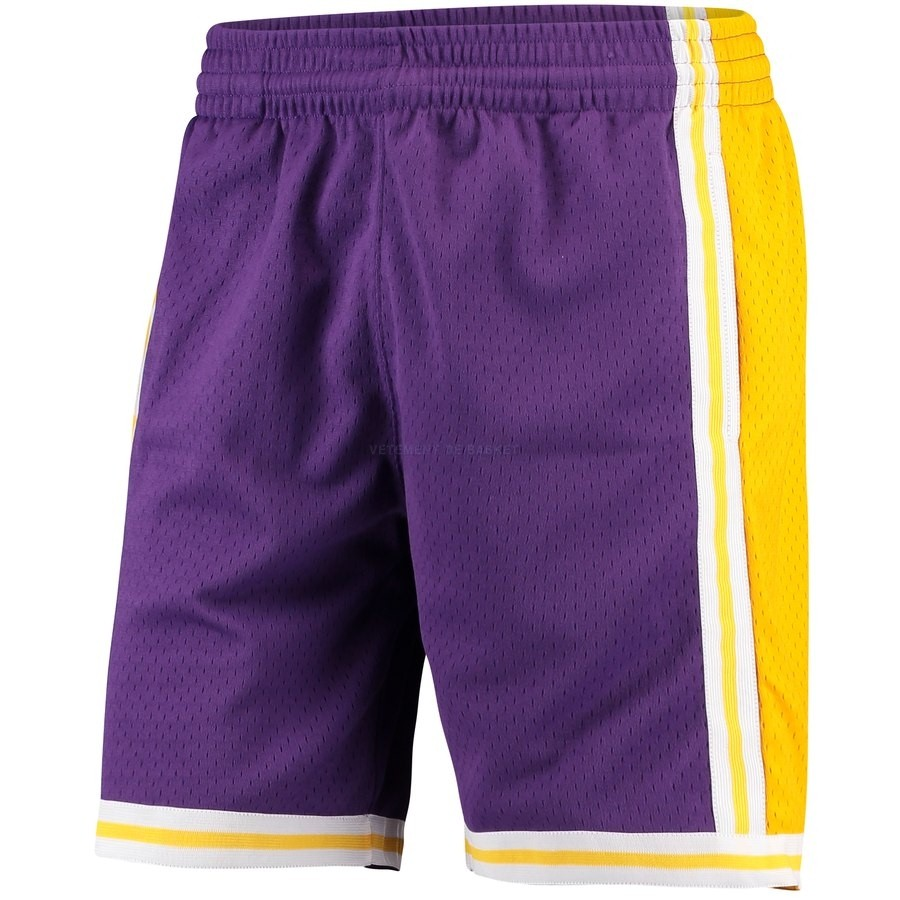 Pantalon Basket Los Angeles Lakers Pourpre Hardwood Classics