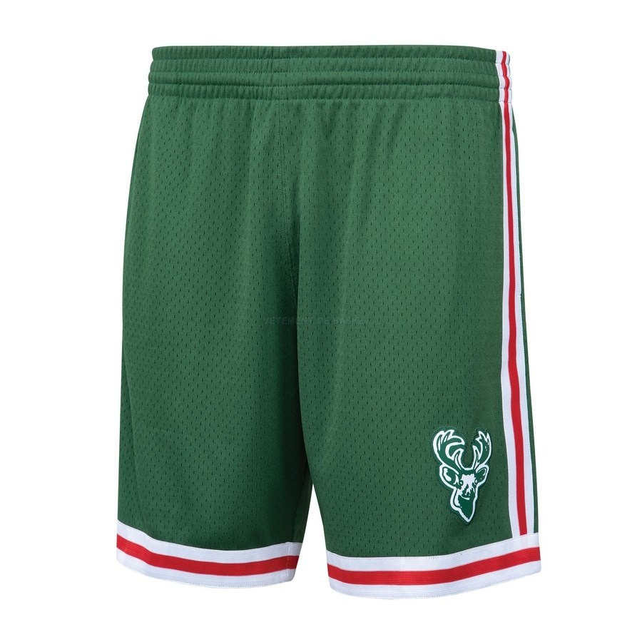 Pantalon Basket Milwaukee Bucks Vert Hardwood Classics