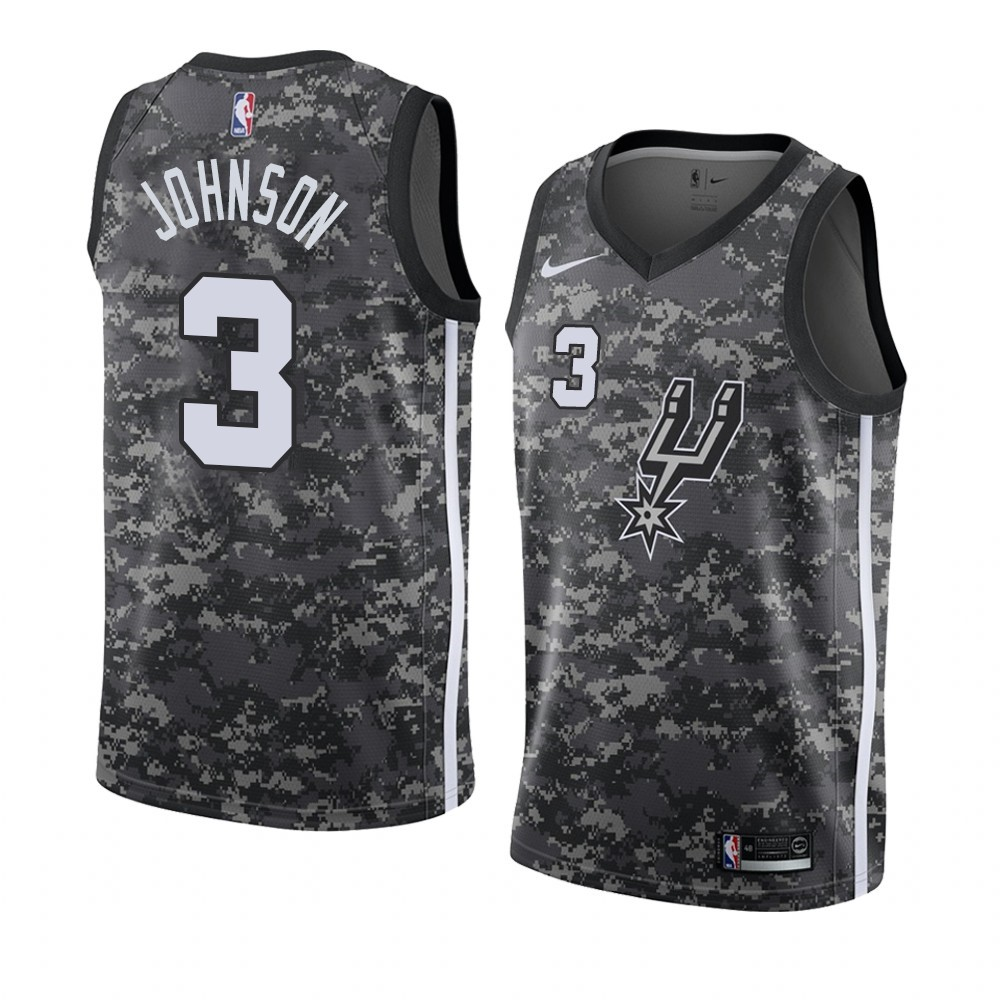 Maillot NBA Nike San Antonio Spurs NO.3 Keldon Johnson camo Ville 2019-20