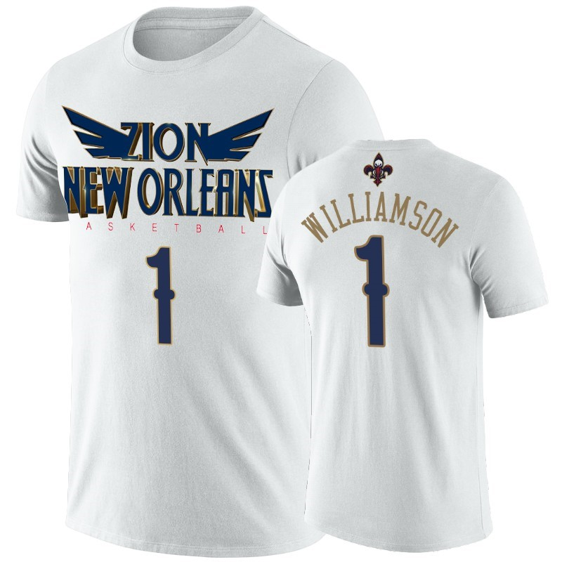 T-Shirt NBA New Orleans Pelicans Zion Williamson Blanc